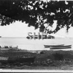 ADLER SMS, 1885.wrecked at Apia,Samoa, 1898. SHF Coll.