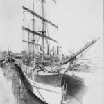 ALMORA, barque in Morts Dock. c.1880. SHF Coll.