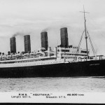 AQUITANIA 1914-1949. Real photo post card. SHF Coll.