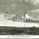 ARCADIA 1954-1979. Outbound.Real photo postcard. SHF