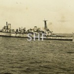 AUSTRALIA HMAS ,tugs CHAMPION and St.OLAVES tow AUSTRALIA to