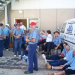 Aust Day 4 - Crew relaxing at the end of the day
