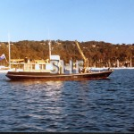 BALLINA, 1948. motor lighter at Pittwater. SHF Coll.