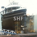 BARAGOOLA in RAN floating dock. SHF Coll.