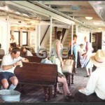 BARAGOOLA, lower deck with passengers, 1982.
