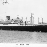 BRASIL STAR, 1947.Real photo post card. SHF Coll.