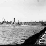 BURROWAY in Homebush Bay. c.1957.