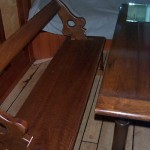 Benches in saloon