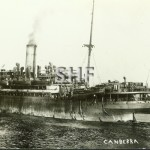 CANBERRA 1913-1959 as WW1 troopship. SHF Coll.