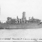 CANBERRA 1913-1959, as troop ship WW1. SHF Coll.