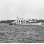 CANBERRA HMAS, in Farm Cove. SHF Coll.