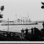 CANBERRA HMAS. in Farm Cove. SHF Coll.