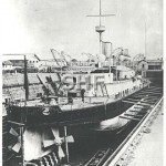 CERBERUS HMVS _ in dock, 1886 _ GKAC _