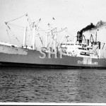 COTTON STATE, WW2 Victory ship at Le Havre 1950. SHF Coll.