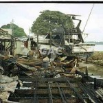 Cabarita Marina after fire, 1992. File 1143-22.