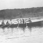 Captain W.Gibson in pilot boat at Vaucluse Bay.SHF Coll.