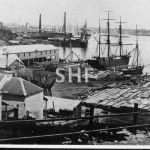 Cuthberts shipyard, Millers Pt. Feb 1871. SHF Coll.