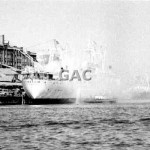 DELOS, fire with fire tug BENNELONG. 1969. Proof 106-21A.