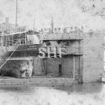 DICKY 1883-1893 wrecked. Unusual dock. SHF Coll.