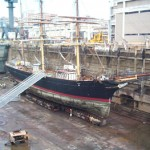 Dry dock from above stbd side
