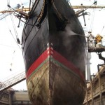 Dry dock from bow