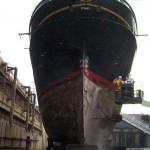 Dry dock - from stern