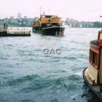 E.O.K. GREEN dredge & ferry RADAR,Quay, Jan 1987.