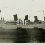 EMPRESS OF BRITAIN 1931-1940,W'loo April 2, 1938.SHF Coll.
