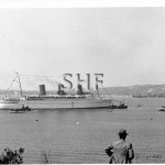 EMPRESS OF BRITAIN arrival Sydney, April 1938. SHF Coll.