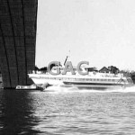 FAIRLIGHT (II), passes Gladesville Bridge, 1973. Proof 49-8.