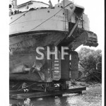 FITZROY Qld.dredge. 1925- 1980.At Bundaberg slip.SHF Coll.