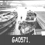 Ferries in Quay. GA0571.
