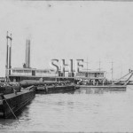 GLAUCUS, Suction dredge Walsh Is. N'castle 1903.SHF Coll.