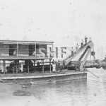 GLAUCUS, Suction dredge at Walsh Is. 1903. SHF Coll.