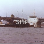 GOLIATH 1978, Glebe Is. bridge Jan 1981.SHF Coll.