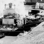 GOOLWA barge at Bourke with Paddlesteamers before 1894, SHF