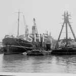 H.E.STREET 1949- barge 1983 with PWD plant. SHF Coll.