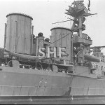 HOOD HMS, 1919-1941, midships detail. SHF Coll.