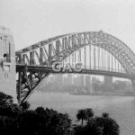Harbour Bridge from sheerlegs MSB. 1982. Proof 696-20.