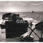 Hopper at sea, MSB, with tug. 17 September 1953