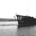 IRON DAMPIER 1981.At Whyalla with two Stannard tugs. SHF Col