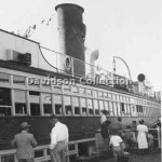 KALANG at Manly Wharf, promo trip. Feb 8, 1951.Davidson SHF F