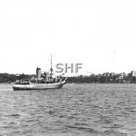 KARANGI HMAS, laying buoys,Royal Visit_ Feb 2, 1954_ Davidson