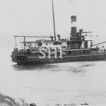 KIANGA 1922-1948,stuck on Narooma Bar, note stern line. SHF