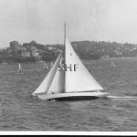 KURREWA- MORNA, yacht. stippled. SHF Coll.