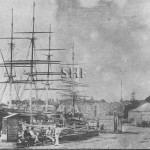 LA HOGUE 1855, at Semi-Circular Quay. SHF Coll.