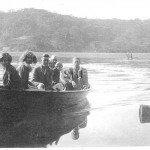LESTER, 4-oared skiff, Fleming family. SHF Coll.