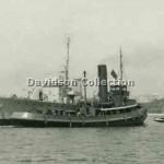 LINDFIELD and WATTLE tow RAN AMS, Feb 7 1952. Davidson File 63