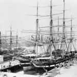LOCH FYNE, at Sydney(right) 1882. SHF Coll.