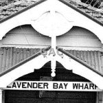 Lavender Bay Wharf facade, 1968. Proof 151-6A.